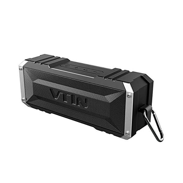 VTIN Punker Enceinte Portables Bluetooth, 30 Heure Haut-Parleur Extérieur Sans Fil avec Son Stéréo 20W Fort, IPX5 Imperméable,Crochet Détachable Haut-Parleur Portable 1