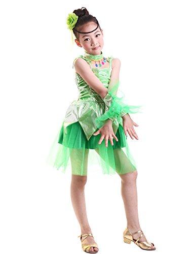 Ragazza Ballo Costumi Vestito Abbigliamento Di Gonne Per Da Danza Verde Latino Moderna Abito Bozevon 1gnESRwqq