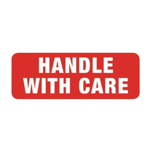 Swiftpak 148 x 50mm Handle With Care Labels (Roll of 500) Swiftpak Limited LAVL148HA