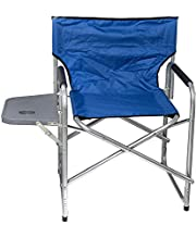 Foldable Chair with Side Table - Blue