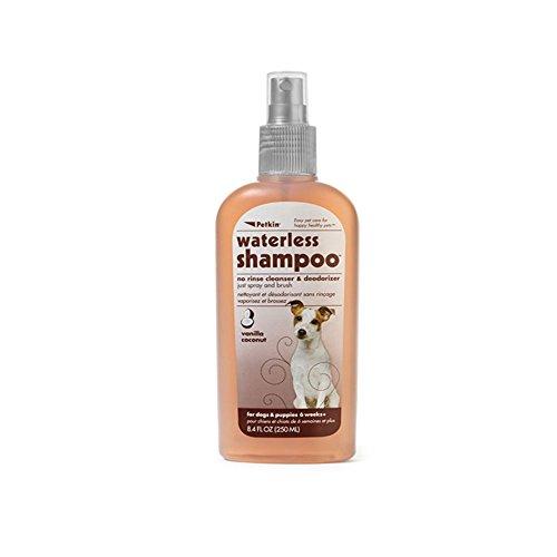 Petkin Waterless Shampoo - Vanilla Coconut 8.4 oz (Rawhide Puppy Roll)