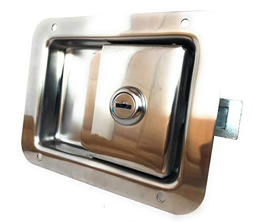 AMT Package of Two RV Camper Trailer Motorhome Toolbox Paddle Entry Door Lock Latch Handle