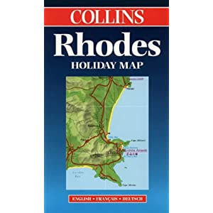 Collins Rhodes Holiday Map: English, Francais, Deutsch (Bartholomew Holiday Maps) (Collins Holiday Maps)