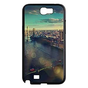 Samsung Galaxy N2 7100 Cell Phone Case Black_mm24 england london skyview city flare big ben nature Igdpy