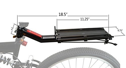 Lumintrail Bike Commuter Carrier Rack w/Seatpost Quick Release Universal Rear Mount for Bicycle Cargo by Lumintrail (Image #3)