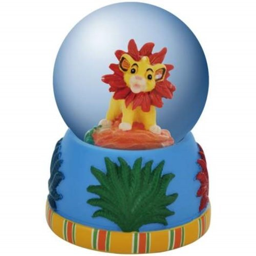 45 Mm Globe Water (WL The Lion King Young Simba Smiling with Flower Mane Water Globe, 45mm)