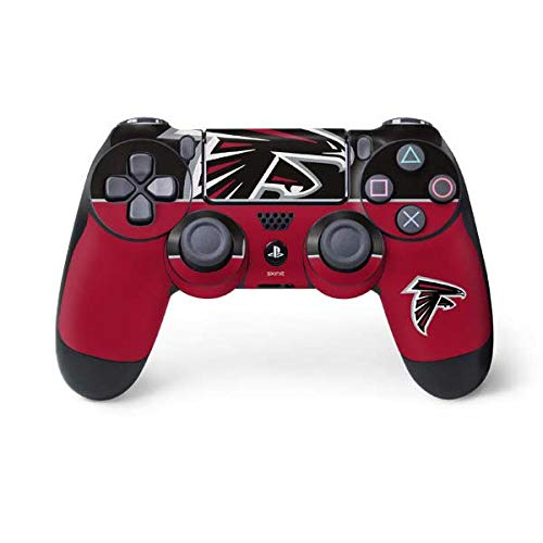 Skinit Atlanta Falcons Zone Block PS4 Controller Skin - Officially Licensed NFL PS4 Decal - Ultra Thin, Lightweight Vinyl Decal Protective Wrap