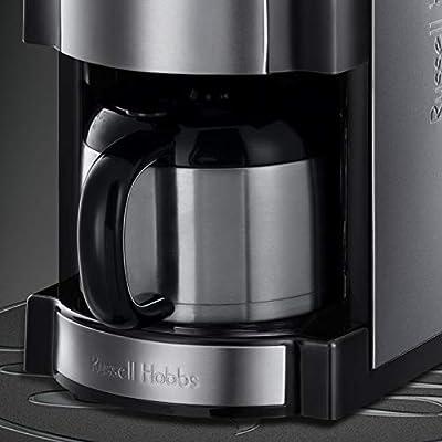 Russell Hobbs Grind & Brew - Cafetera de Goteo (Jarra Cafetera Térmica para 10 Tazas, 1000 W, Gris) - ref. 21430-56: Amazon.es: Hogar