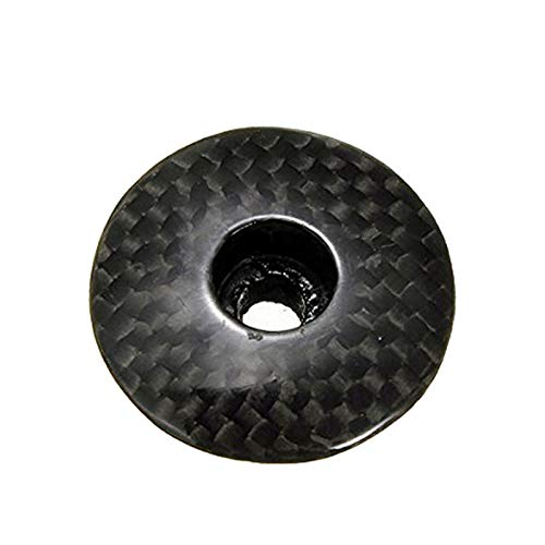 TOOGOO 3K Carbon Fiber Bicycle Headset Caps 1-1/8 inch Mountain Bike Cycling MTB Headset Stem Top Cap Cover