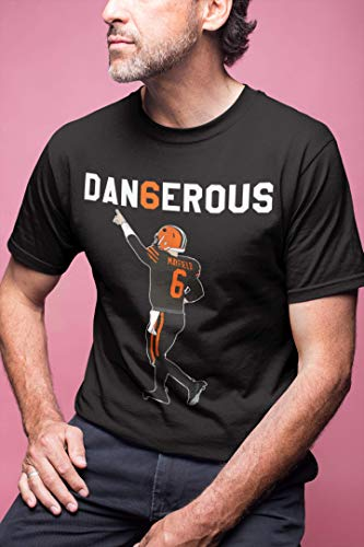 Cleveland Football I Woke Up Feeling Dangerous Number 6 Jersey T-Shirt Hoodie/Long Sleeve/Tank Top/Sweatshirt