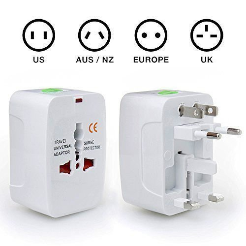 Mobarn 4IN1 Surge Protector Universal Travel Wall Charger AC Power AU UK US EU Plug (Ac Wall Travel Charger)