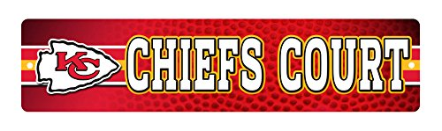 NFL Kansas City Chiefs 16-Inch Plastic Street Sign Décor