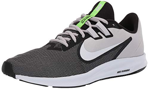 NIKE Men's Nike Downshifter 9 Shoe, Black/White - vast grey, 13 Regular US