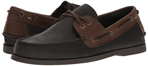 85ff745f05a56 TOMMY HILFIGER Men s Bowman Boat Shoe Black 12 D(M) US  Buy Online at Low  Prices in India - Amazon.in