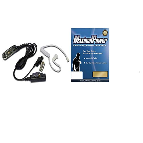 Maximal Power RHF MOT XPR6550 Hand Free Earpiece for 2 Way Radio with Motorola XPR6550 Connector ()