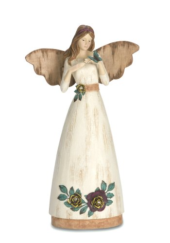 (Pavilion Gift Company Simple Spirits 41004 Angel Figurine Holding Butterfly, 9-Inch, Friend)