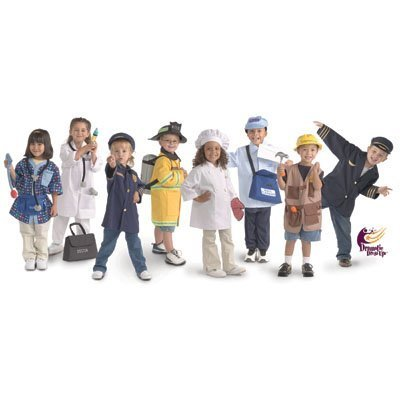 Brand New World Community Helper Dramatic Dress Ups Collection - Set of 8 Costumes ()