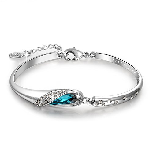 qianse-glass-slipper-7-inches-bangle-bracelet-made-with-blue-swarovski-crystals-gift-for-her-gift-fo