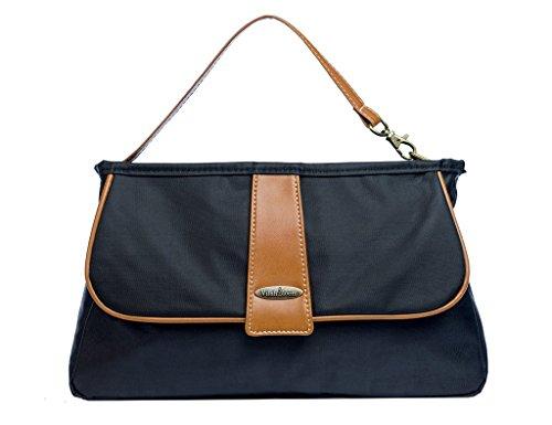 - Vilah Bloom Cottage Clutch Diaper Bag Handbag, Little Black Dress
