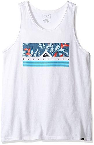 Quiksilver Men's Jungle Box Tank T-Shirt, White, Small