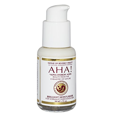 rizer For Dry / Oily or Combination Skin With Alpha Hydroxy Acids From Fruit, Organic Vinegar, Coconut Oil. The Leading Brand In Anti Aging Skin Care! Exfoliating Moisturizer By Nonie Of Beverly Hills 1.75oz Durable Glass Bottle (Hill Fruit)