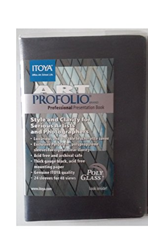 Itoya AOS-PU-24-5 Art Portfolio 24 Sleeves 48 Views 5'' x 7'' Professional Presentation Book by ITOYA