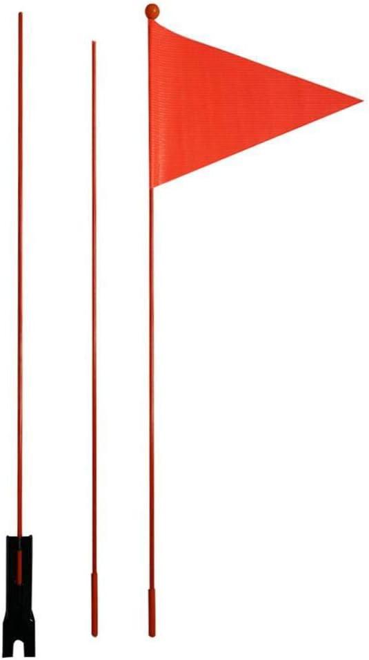 Drapeau De S/écurit/é Drapeau De Bicyclette Fanion De V/élo Drapeau De Fanion De S/écurit/é Tige en Fibre De Verre avec Un Fanion Rouge Distinctif FORYOURS Drapeau De S/écurit/é V/élo