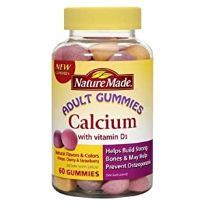 Nature Made Calcium with Vitamin D3 Adult Gummies, 60 Count (Pack of 2)