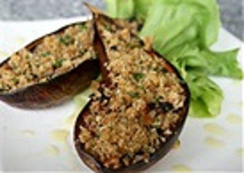 Caribbean Baked Stuffed Eggplant: An absolutely wonderful vegetarian dish. ()