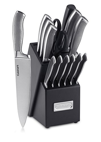 Cuisinart C77SS-15P Graphix Collection 15-Piece Cutlery Knife Block Set, Stainless ()