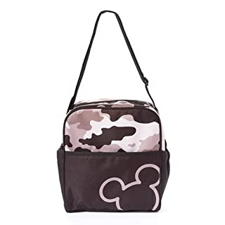 Disney Mickey Camo Mini Diaper Bag, Black/Gray , Small