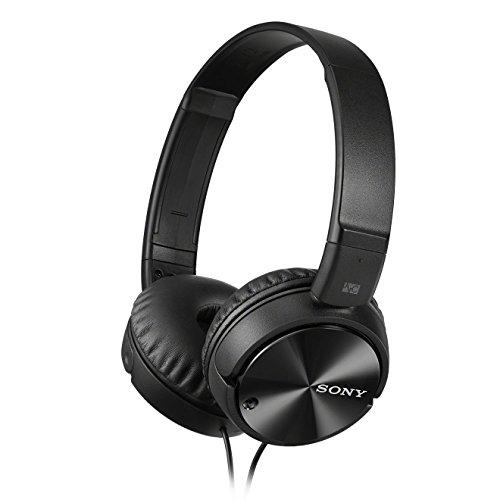 Sony MDR-ZX110NA faltbarer Bügelkopfhörer mit Digital Noise Canceling, schwarz