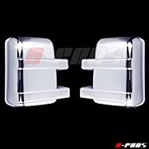 A-PADS 2 FULL Chrome Telescopic Mirror Covers For Ford SUPER DUTY F250 & F350 2008-2016 - Chromed Mirrors Pair