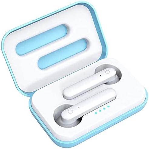 TYGYDLQ ワイヤレスヘッドセット、Bluetoothヘッドセット、ノイズキャンセルマイクヘッドセット、重低音ヘッドフォン、ポータブルゲームヘッドフォン、ヘッドセットのタッチコントロール (Color : Blue)