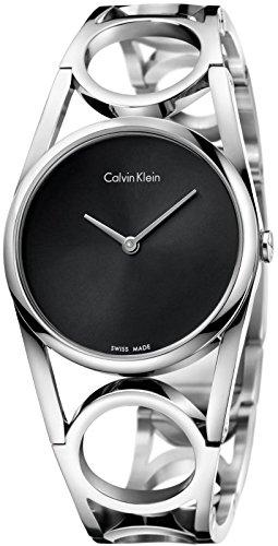 Calvin Klein Reloj Digital para Mujer de Cuarzo con Correa en Acero Inoxidable K5U2M141: Amazon.es: Relojes