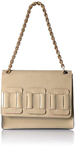 Orla Kiely Glass Leather Linked Square Bonnie Bag, Cream by Orla Kiely