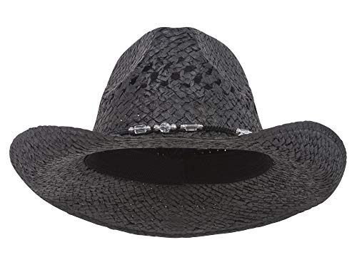 MG Womens Straw Outback Toyo Cowboy Hat,