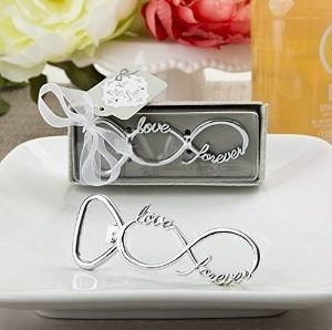 96pcs Infinity Design Silver Metal Bottle Opener For Wedding Party Favor