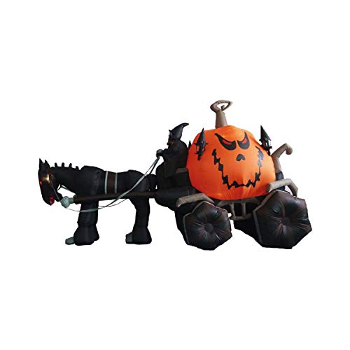 (Halloween Inflatable Air Blown Blowup Decoration Grim Reaper Pumpkin Carriage by Things for Everyone)