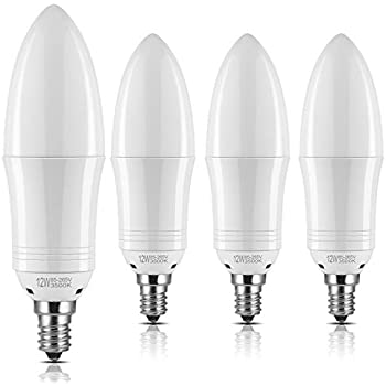 Yiizon E12 Led Candle Light Bulbs 12w 1200lm 100w