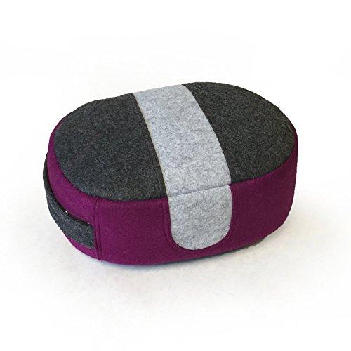 Ume Meditation Cushion (Plum Side) Wool Felt Block