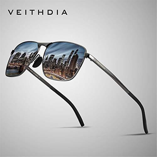 Sol Hombres de Mujeres Lente KOMNY Gafas de A la la Lentes Marca de UV400 Sol de la polarizadas de A Masculinas Accesorios Hombres los Gafas cuadradas para de Vendimia FwqFZzBc