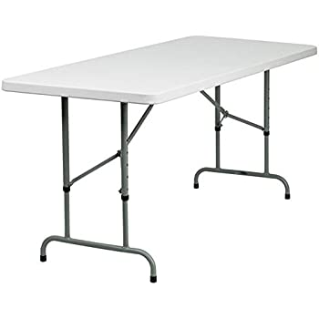 white fold up table ikea folding kitchen this item flash furniture height adjustable granite plastic home depot