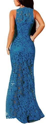 Emmani Emmani Sexy Kleid Blau Damen Damen xPqBqaYw