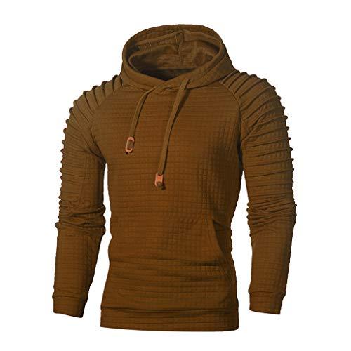 GOVOW Men's Hooded Lightweight Windbreaker Winter Soft Golf Jacket Coffee - Exo Dri Short