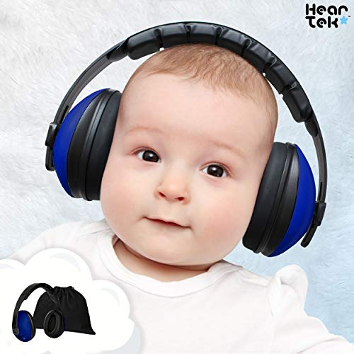 Baby Ear Protection - Noise Cancelling Muffs for Babies Infant Tots Toddler Child - Kids Hearing Protection Earmuffs - Sound Proof Noise Canceling Headphones - Ages Newborn to 3 Years - Dark Blue