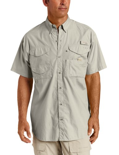 ead Short Sleeve Fishing Shirt (Fossil, 3XL) ()