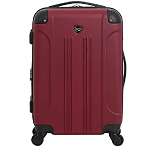 Travelers Club Chicago Hardside Expandable Spinner Luggage, Rhubarb, Carry-On 20-Inch