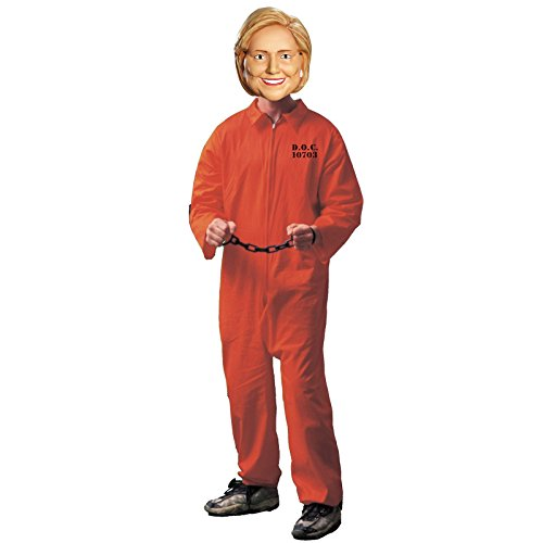 Bill And Hillary Costumes Clinton (Hillary Clinton for Prison Costume Bundle Set - Adult)