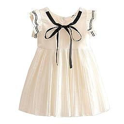 Mud Kingdom Butterfly Sleeve Preppy Girls\' Dresses White 4T